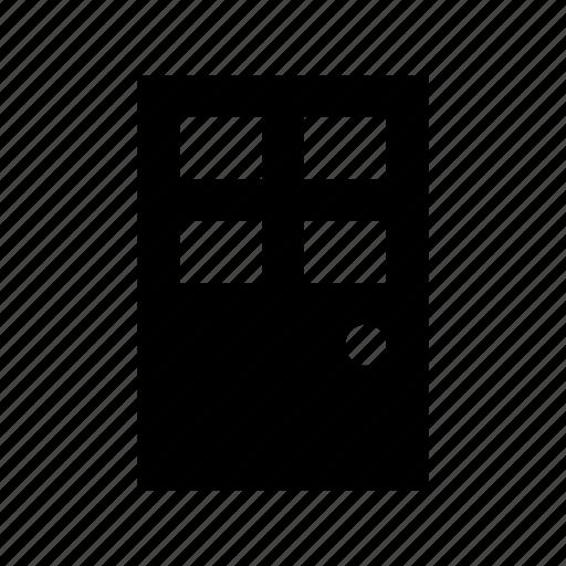 building door, closed door, door, entrance, gate icon