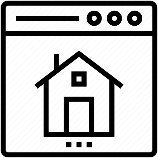 home, online property, online real estate, property website icon