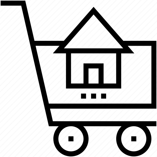 add to cart, online property, shopping, shopping cart, trolley icon