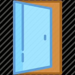 building door, door, entrance, gate, open door icon
