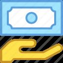 banknote, hand gesture, money, paper money, payment