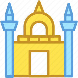 building, islamic building, mosque, religious place, tomb building icon
