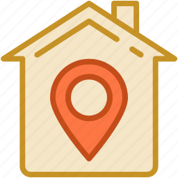 gps, home, house location, location pin, map pin icon