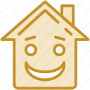 emoticon, home, home emoticon, house emotion, real estate icon