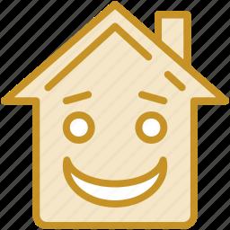 emoticon, home, home emoticon, house emotion, real estate icon