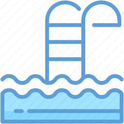 pool, pool stairs, pool steps, poolside, swimming pool icon