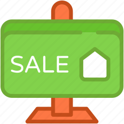 advert board, information, sale, sale board, sale sign icon