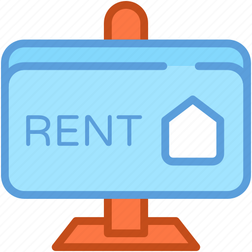 for rent, real estate, rent billboard, rent signboard, rental icon