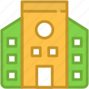 building, college building, institute, real estate, school icon