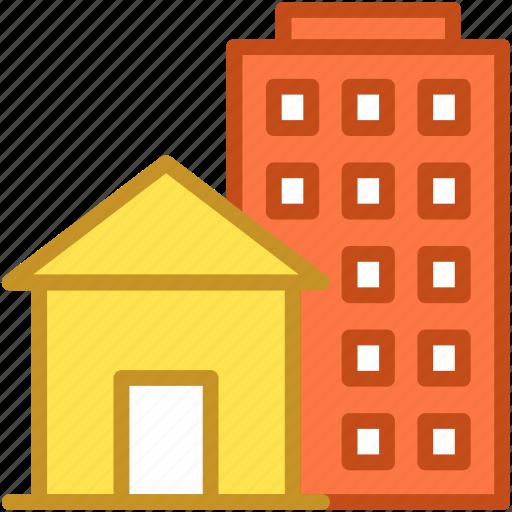 building, flats, housing society, office block, skyscraper icon
