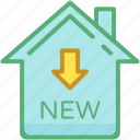 home, house, new house, new sign, property icon