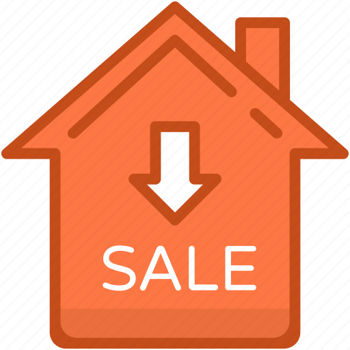 for sale, home, house, house for sale, sale sign icon