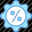 discount offer, low percentage, percentage, percentage ratio icon
