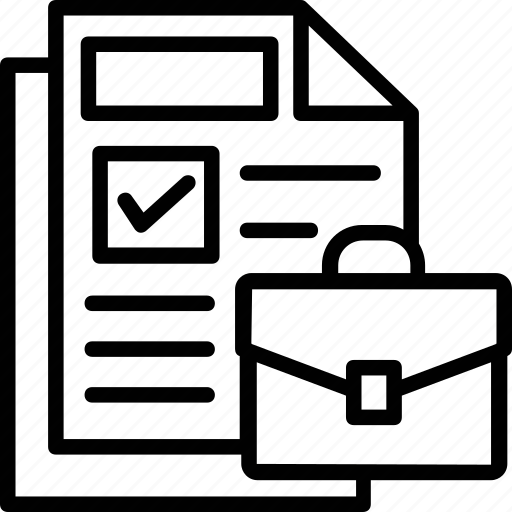 briefcase, catalogue, documents, files, portfolio icon