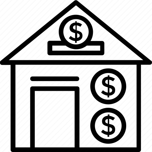 financial planning, home finance, home mortgage, savings, state bank icon