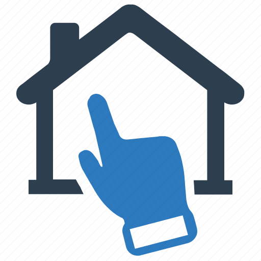 choose, click, home loan, house, online, property, real estate icon