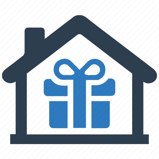 delivery, home, home delivery, home present, package, real estate icon