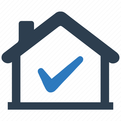 approved, check mark, home, property, property approved, real estate icon