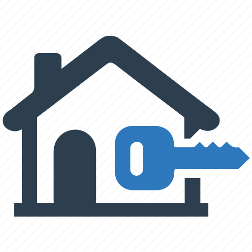 house insurance, house key, house security, locked house, real estate icon