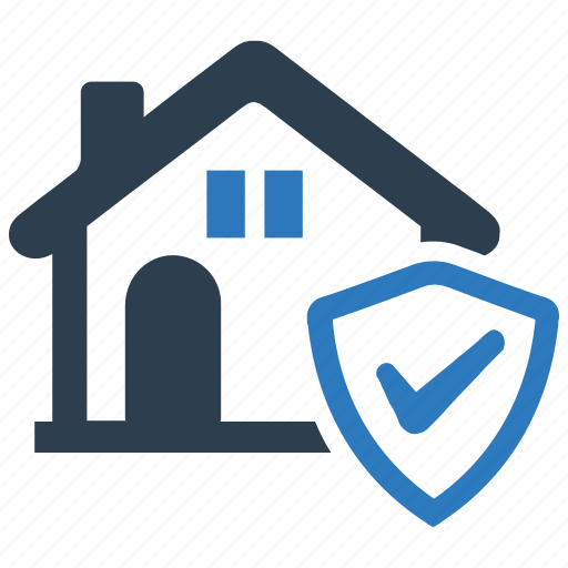 estate, house, protection, real, real estate security, security icon