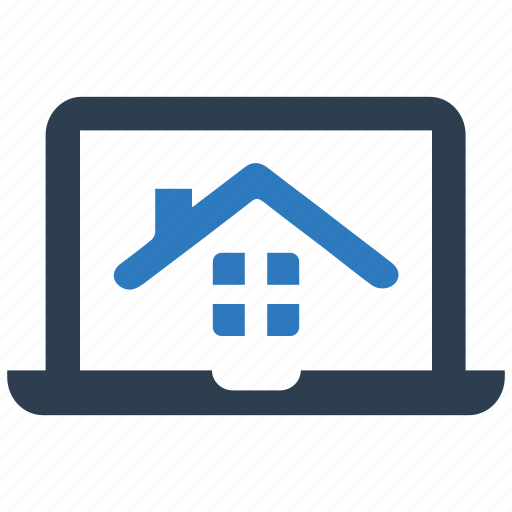 house renting, laptop, property, real estate, real estate website icon