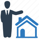 agent, expert, property manager, real estate, real estate agent icon