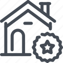 building, estate, house, rate, rating, real, star icon