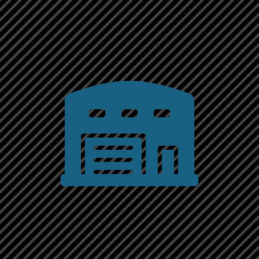 building, storage locker, storage unit, warehouse icon