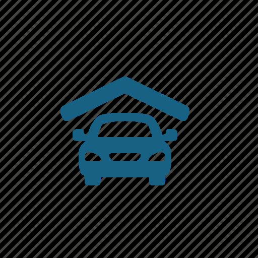 car, car park, garage, parking icon
