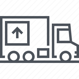 carry, delivery, real estate, truck icon