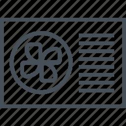 air, conditioner, fan, real estate icon