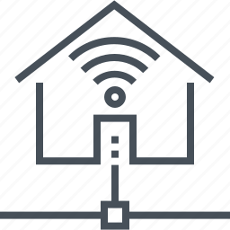 adsl, cable, internet, real estate, wi-fi, wireless icon