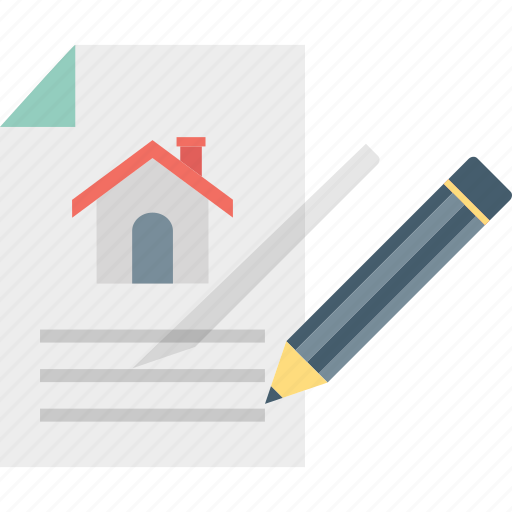 contract, estate agreement, papers, property icon