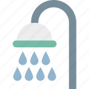 bath, shower, shower head, shower sprinkler icon
