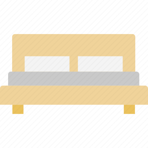 bed, bedroom, double bed, hotel room icon