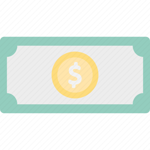 banknote, currency note, paper money, paper note icon