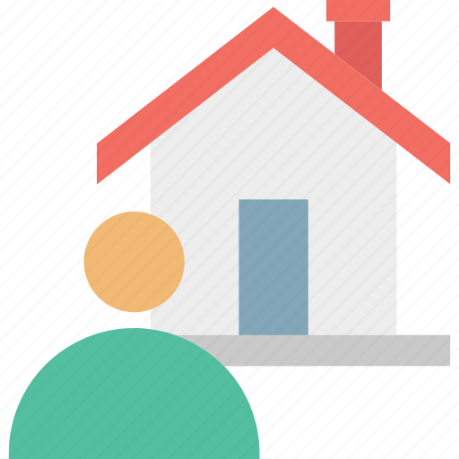 estate agent, homeowner, property agent, renter icon