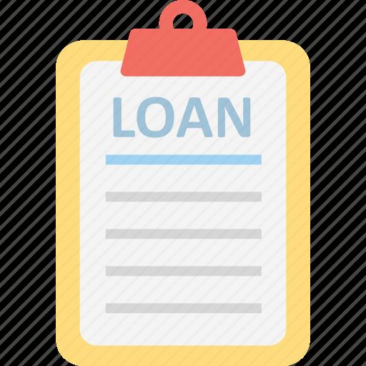 loan, loan application, loan paper icon