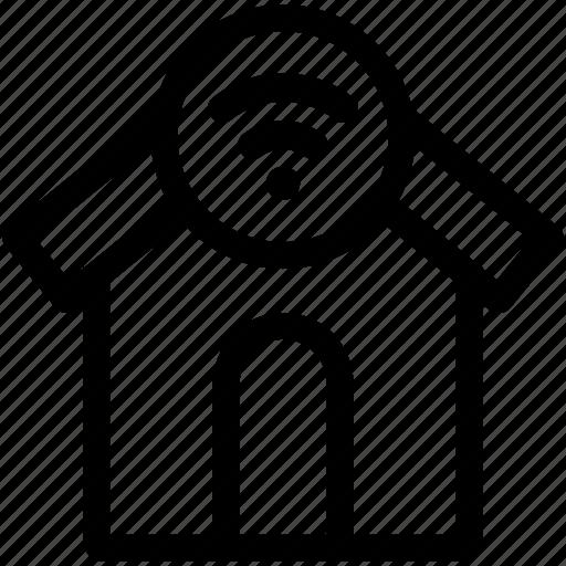 house, smart, wifi icon