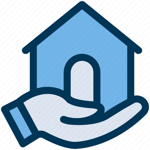 Hand, house, property icon - Download on Iconfinder