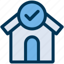 approved, home, loan icon
