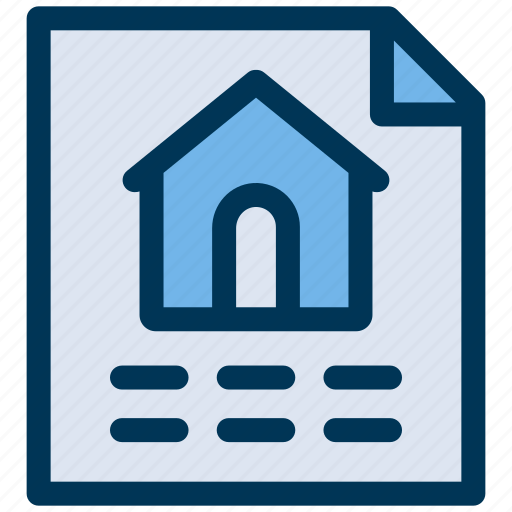contract, document, property icon
