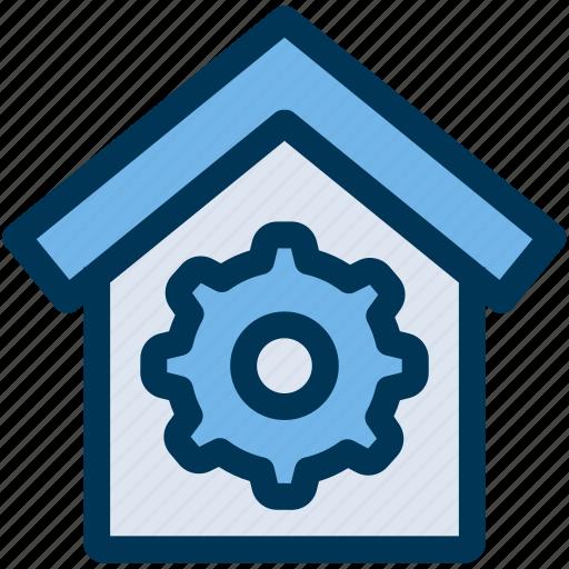 house, property, settings icon