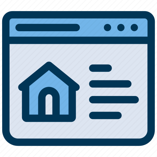 house, online, property icon