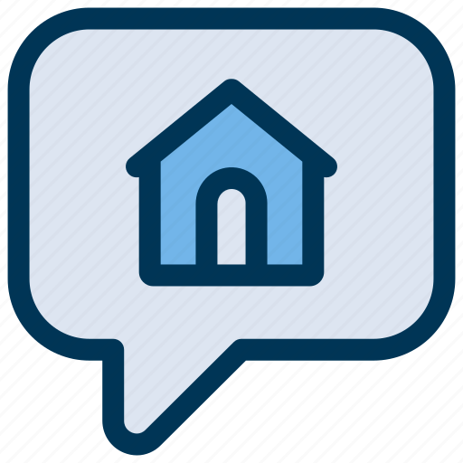 Chat, house, talk icon - Download on Iconfinder