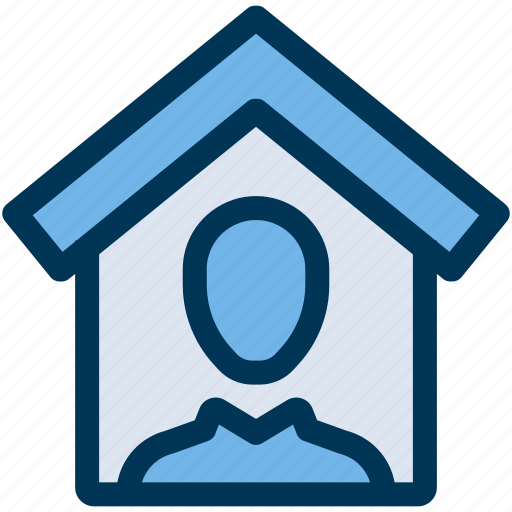 house, property, user icon