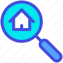 buy, home, house, online, search icon