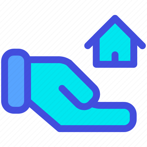 buy, hand, home, house, mortgage, sell icon