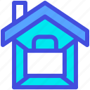 confiscated, home, house, locked, sealed icon