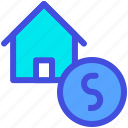 bid, buy, house, money, price, sale icon